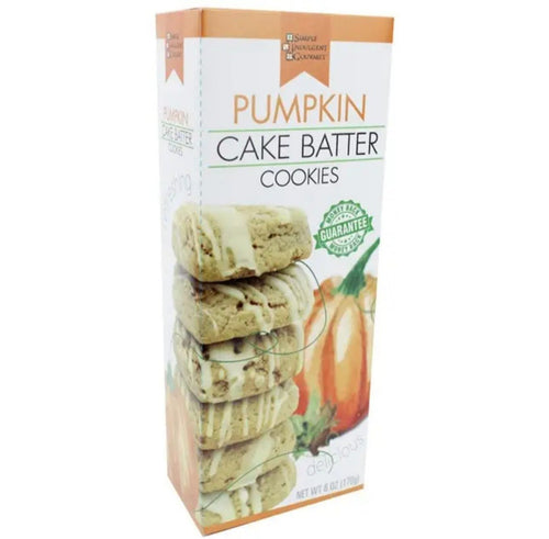 Fall Cake Batter Cookies - Pumpkin