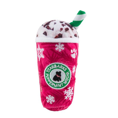 Plush Dog Toy - Starbarks Red Snowflakes Puppermint Mocha