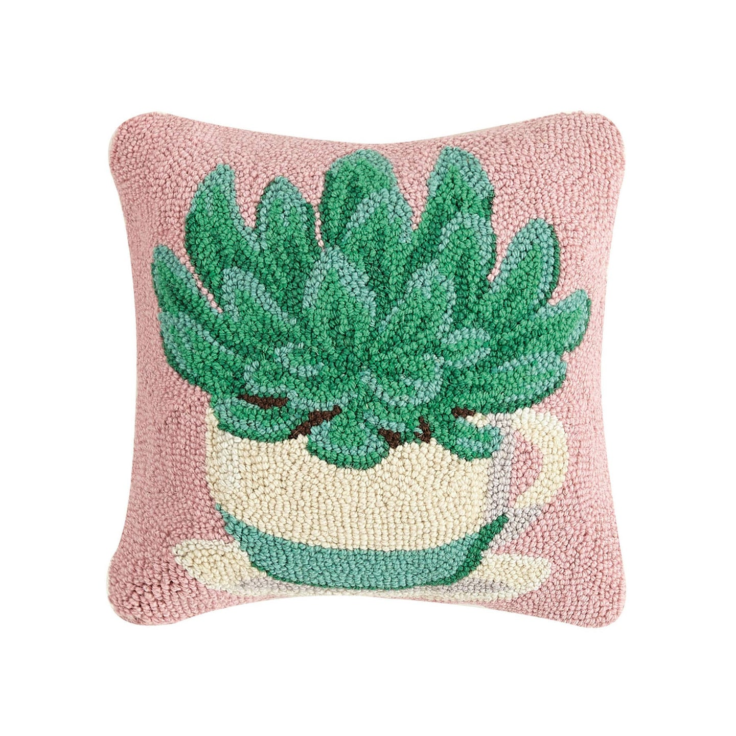 Succulent Teacup Throw Pillow
