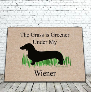 Door Mat - The Grass Is Greener