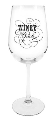 Wine glass - stemmed - Winey Bitch