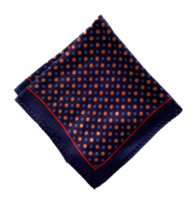royal blue pocket square , navy blue silk pocket square