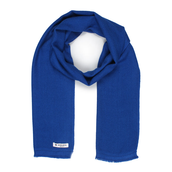 Blue Woolen Muffler, Men's scarf - Mens neck scarf with suit