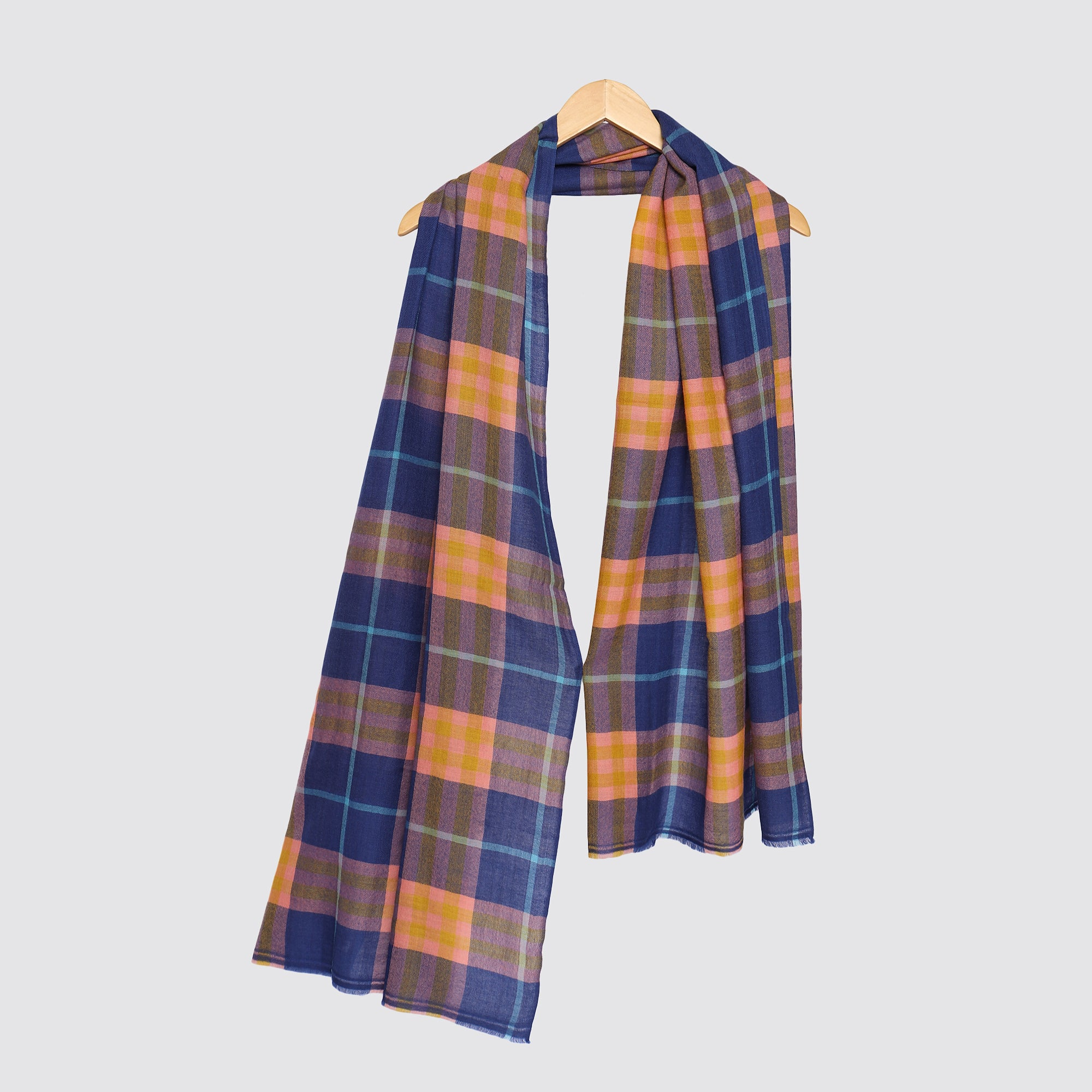 plaids and checks cashmere pashmina online by modarta