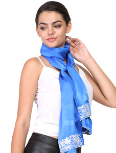 Parsi border on silk scarf