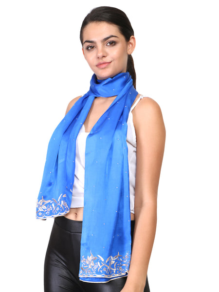 parsi embroidery borders on silk scarfs and stoles