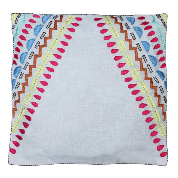 white cushion cover online, embroidered cushion covers