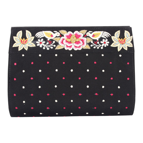 Parsi Border on Black Purse
