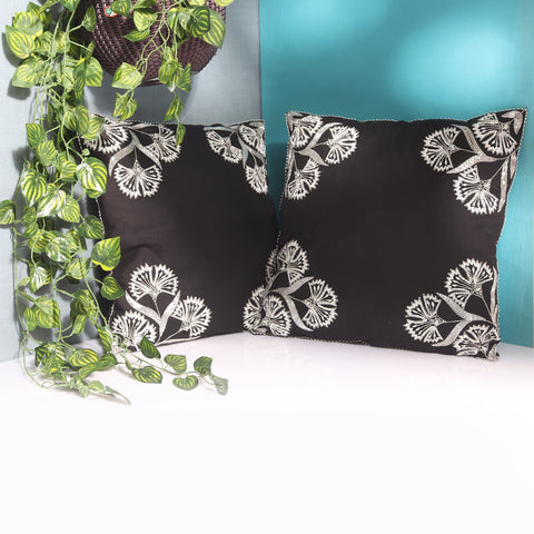 black cushion covers, designer cushion covers online india