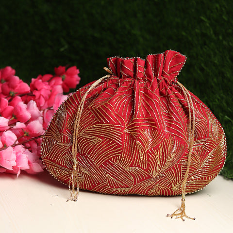wedding handbag for bride, designer potli bag by modarta