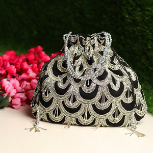 black purse, black clutch purse