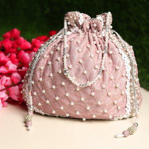 Pink Potli Bag, ladies bag online