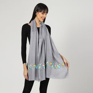 grey stole, woolen stole and winter stoles