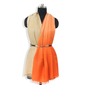 Orange Biege Cashmere Shawl Online