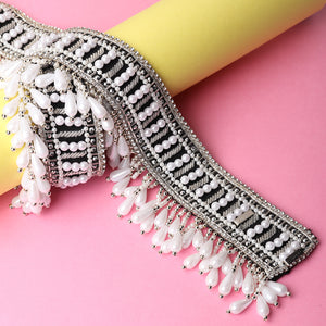 waist belt for sarees, pearls belt