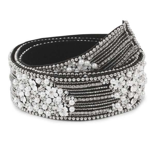 waist belt for saree online india, silver waist belt for saree
