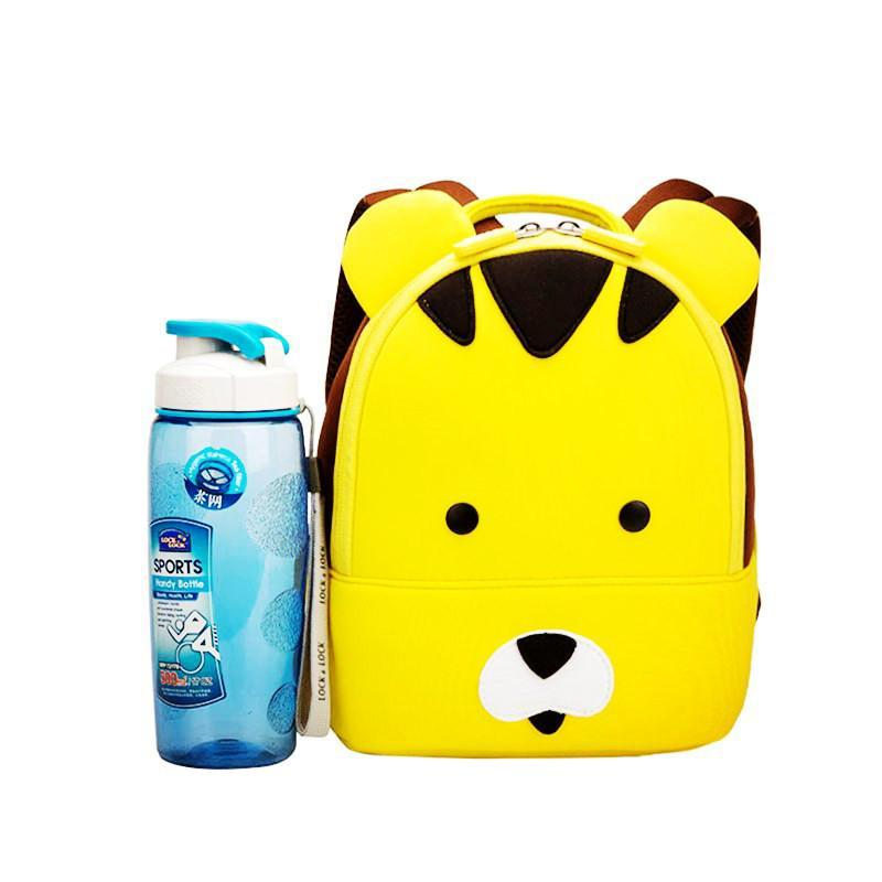 Yellow Tiger Waterproof Small Backpacks for Toddlers - Green Mango