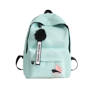 Canvas School Backpack - Green Mango