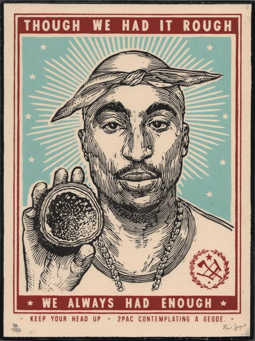 Ravi Zupa - 2Pac Contemplating a Geode - Hand-Finished Multiple (free delivery in EU)