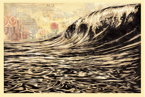 Shepard Fairey (Obey) - DARK WAVE Signed and dated print (free delivery in EU)