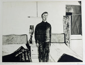 Kees Spermon - Hotelkamer Parijs. 1968 Etching - Hand signed - 10/15