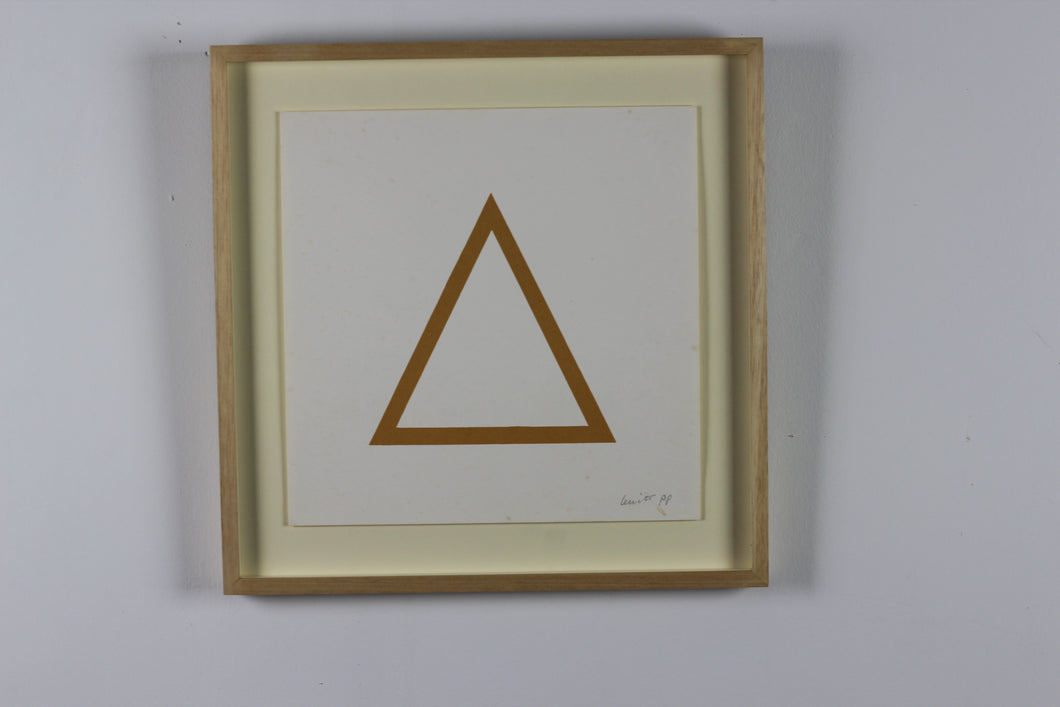 Sol LeWitt (1928-2007) - Hand Signed Graphic