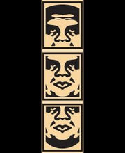 Load image into Gallery viewer, Shepard Fairey (Obey) - 3-FACE (Cream) Signed Poster Set (free delivery in EU)