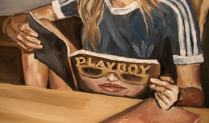Thomas Pramhas - oil painting 'Playgirl'