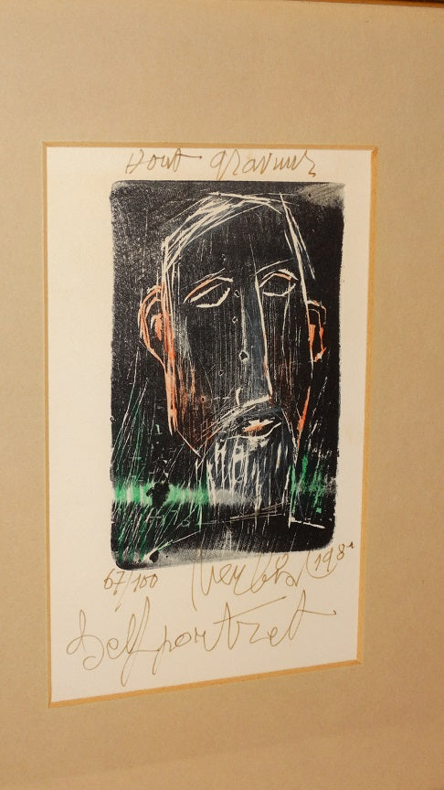Maurits Verbist - signed woodcut