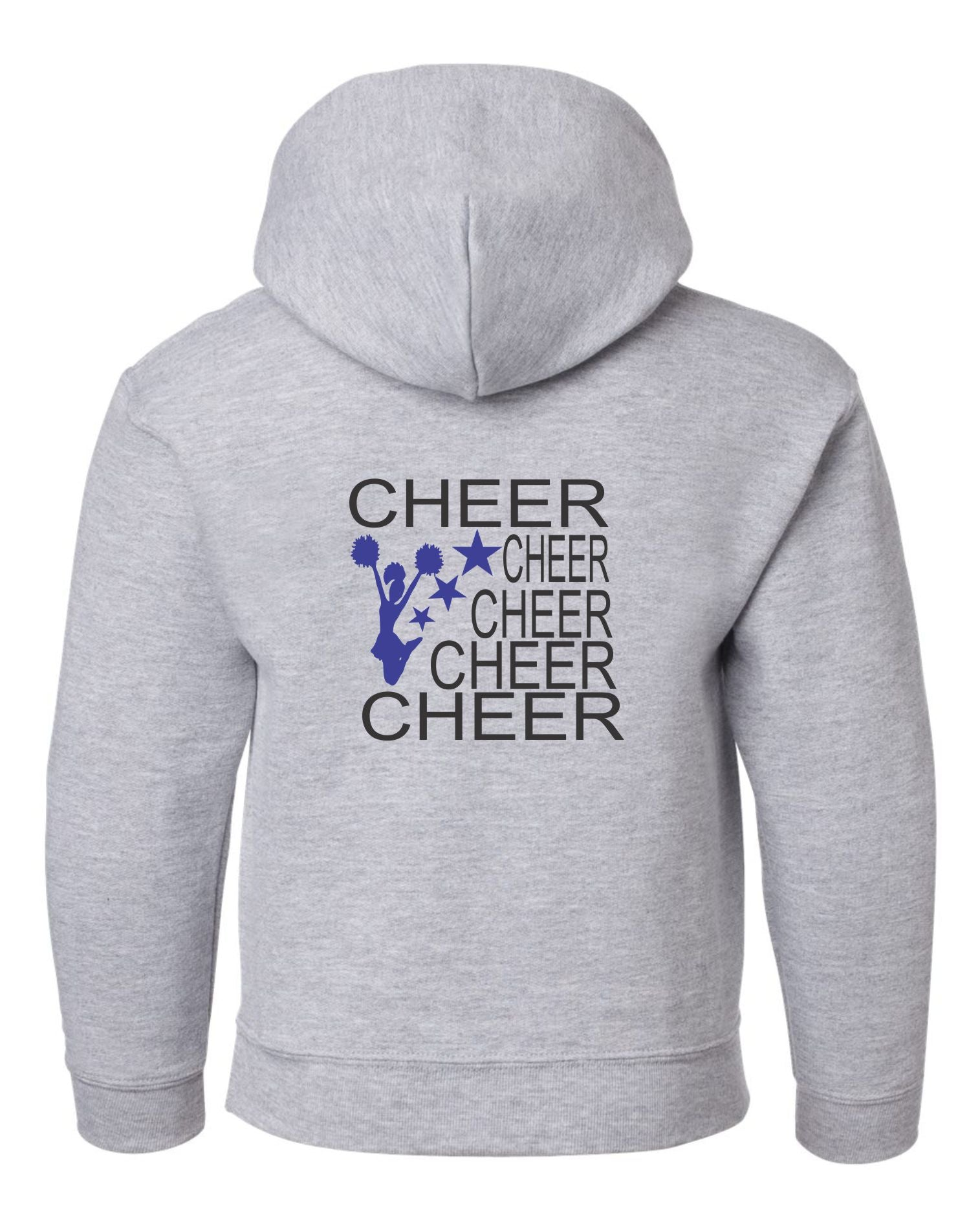 5 Cheers with Cheerleader and Stars Sweatshirt - SERRANIA