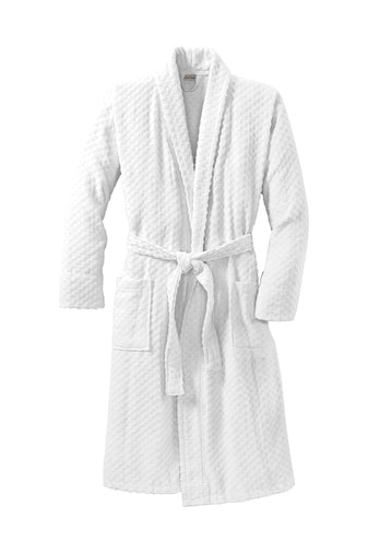Men's Checkered Terry Shawl Collar Robe