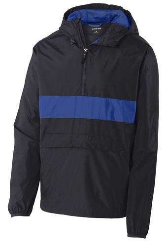 Sport-Tek Zipped Pocket Anorak Jacket