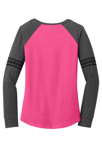Womens Game Long Sleeve V-Neck Tee