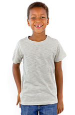 Youth Unisex Short Sleeve Cotton Slub Crew