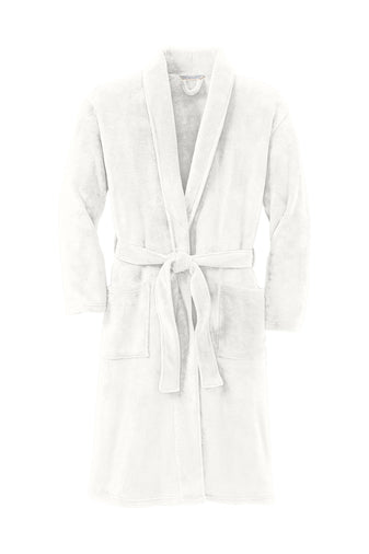 Plush Microfleece Shawl Collar Robe