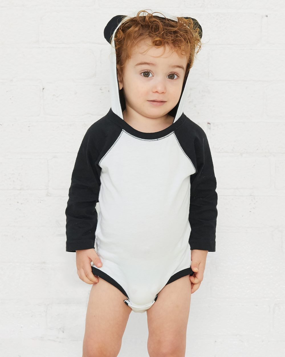 Infant Character Hooded Long Sleeve Bodysuit with Ears