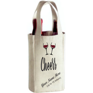 Canvas Double Bottle Wine Tote
