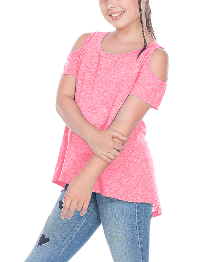 Young Girls Cold Shoulder Tee 7-16