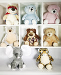 Plush Animals - EMBELLISHING REQUIRED