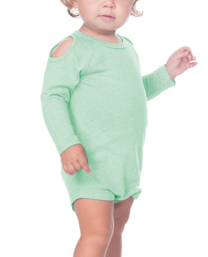 Infant Long Sleeve Cold Shoulder Onesie
