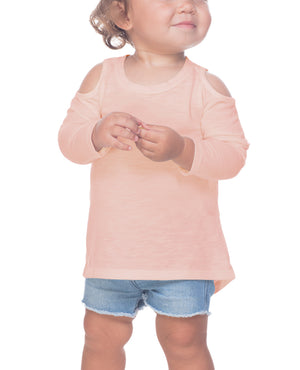Infant Long Sleeve Cold Shoulder Tee