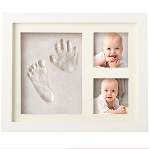 Baby Photo Frame with Non Toxic Clay for Hand and Footprint Imprint Kit