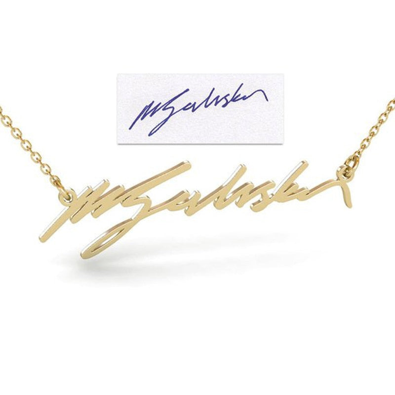 Personalized Handwritten Name or Word Necklace