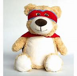 Superhero Bear - RED CAPE - EMBELLISHING REQUIRED