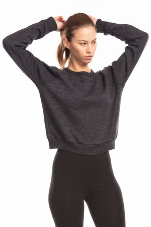 Women's Tri-blend Sponge Fleece Crop Top
