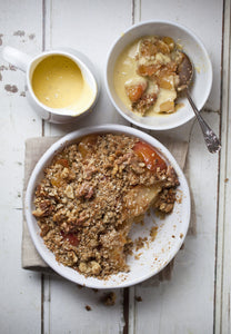 Apple Crumble with Homemade Custard