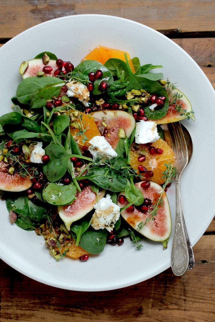 Beauty Boosting Vitality Salad w/ Figs + Pomegranate