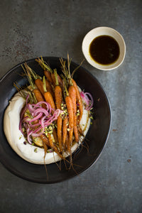 Roasted Baby Carrot W/ Hummus
