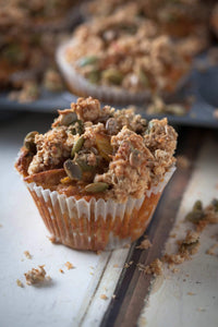 Wholesome Carrot, Apple + Oatmeal Muffins