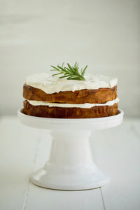 ORANGE + OLIVE OIL CAKE W/ YOGHURT FROSTING